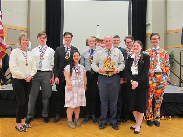 WHS Academic Decathlon Takes Second in State
