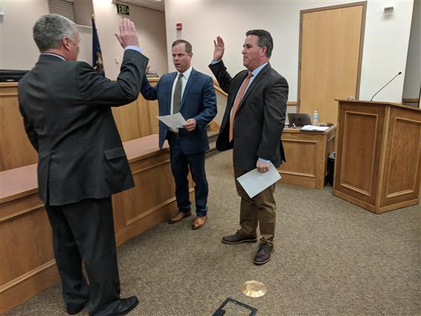 School Board Members Holmes, Bluth Sworn In