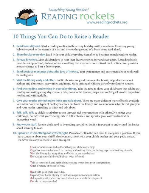 10 Things You Can Do to Raise a Reader