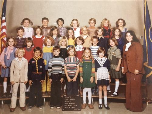 Third Grade Class Picture, Top Row 2nd from the Left