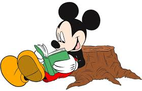Mickey Mouse Reading a Book