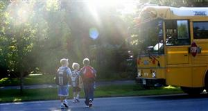 bus 1st day of school