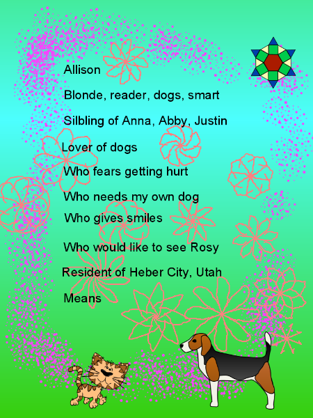 Bio Poem Template Allie Means